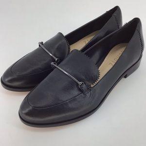NEW Schutz Kurr Black Leather Loafer